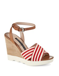 French Connection Jane Wedges Red Natural