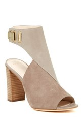 Aerin Maple Peep Toe Pump Gray