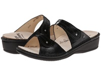 Finn Comfort Catalina 2538 Black Patent Soft Footbed Women's Slide Shoes