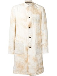 Individual Sentiments Marble Print Effect Coat Nude And Neutrals