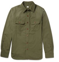 Chimala Slim Fit Cotton Shirt Army Green