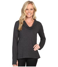 Lucy Surrender Pullover Black Heather 1 Women's Long Sleeve Pullover