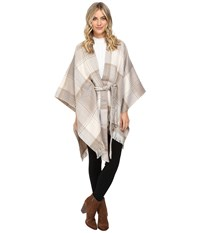 Echo Reversible Plaid Cape White Women's Clothing