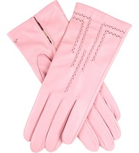 Dents Stitch Detail Leather Gloves Blossom