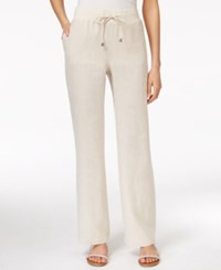 Styleandco. Style And Co. Wide Leg Linen Drawstring Pants Flax