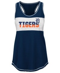 Majestic Women's Detroit Tigers Gametime Glitz Tank Top Navy