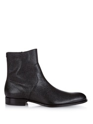 Mr. Hare Trane Grained Leather Boots