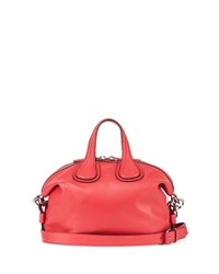 Givenchy Nightingale Small Waxy Leather Satchel Bag Bright Red