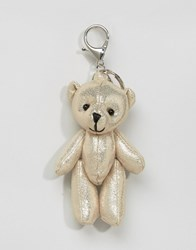 New Look Metallic Teddy Keyring Gold