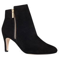 Miss Kg Sage High Heel Ankle Boots Black Suede