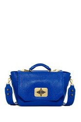 Treesje Clara Leather Shoulder Bag Blue