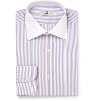 Dunhill Slim Fit Striped Cotton Shirt Blue