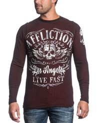 Affliction Davey Jones Reversible Thermal Long Sleeve Shirt
