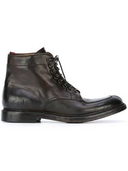 Silvano Sassetti Lace Up Boots Brown