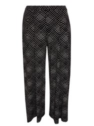 Evans Black And White Printed Trouser