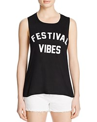 Private Party Festival Vibes Tank Black