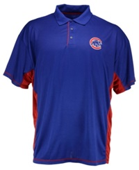 Majestic Men's Big And Tall Chicago Cubs Top Of The Inning Polo Royal Blue