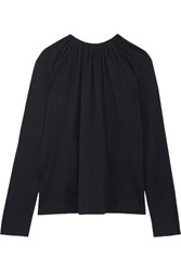 Marni Open Back Cotton Jersey Top Midnight Blue