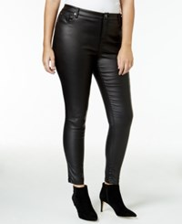 Mblm By Tess Holliday Trendy Plus Size Faux Leather Pants Black