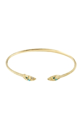 Carolina Bucci Owl Wings 18K Gold Bracelet With Turquoise