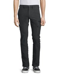 Belstaff Keating Cotton Stretch Flannel Cargo Pants Charcoal