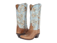 Old West Boots Lf1542 Tan Fry Turquoise Cowboy Boots Brown