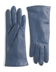 Lord And Taylor Leather Gloves Ink Blue