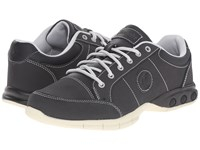 Therafit London Oxford Black Women's Lace Up Casual Shoes