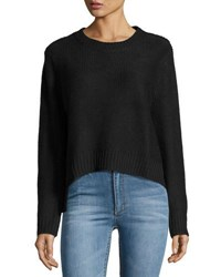 Cheap Monday Long Sleeve Crop Sweater Punk Black