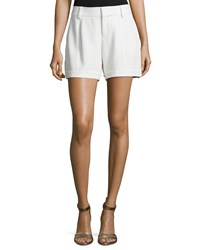 Haute Hippie Pleated Front Shorts W Cuff Swan