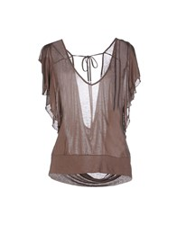 Jucca Topwear Vests Women Light Brown