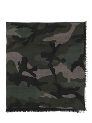 Valentino Camouflage Cashmere And Silk Blend Scarf