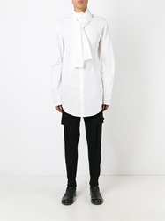 Lost And Found Bow Collar Shirt White