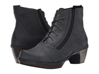 Naot Footwear Avila Reptile Gray Leather Women's Boots Black