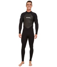 Xcel Wetsuits 4 3Mm Os Axis Quickdry Full Suit All Black Silver Ash Logos Men's Wetsuits One Piece