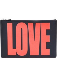 Givenchy Metallic Love Zip Pouch Black