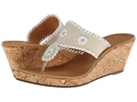 Jack Rogers Marbella Mid Height Espadrille Bone White Women's Wedge Shoes