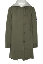 Thakoon Addition Convertible Washed Cotton Twill Coat Green