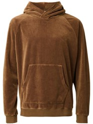 Monkey Time Front Pocket Hoodie Brown