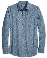 American Rag Men's Chambray Floral Print Shirt Only At Macy's Blue Combo