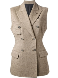 Jean Paul Gaultier Vintage Sleeveless Jacket Nude And Neutrals