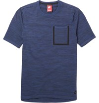 Nike Melange Tech Knit T Shirt Blue