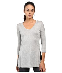 The North Face Nueva 3 4 Tunic Tnf Light Grey Heather Women's Long Sleeve Pullover Gray