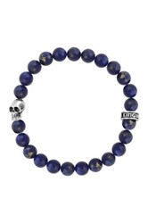 King Baby Studio Sterling Silver 8Mm Lapis Bead Bracelet Multi