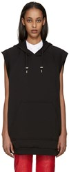 Raf Simons Black Sleeveless Isolated Heroes Hoodie