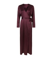 Gilda And Pearl Long Tie Robe Female Red