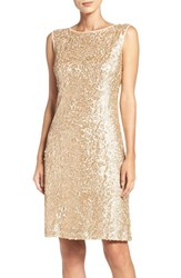 Donna Ricco Women's Sequin Mesh Dress