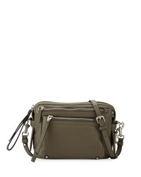 Cube Lamb Leather Messenger Bag Military Green Marc By Marc Jacobs