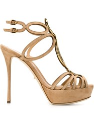 Sergio Rossi Strappy Stiletto Sandals Nude And Neutrals