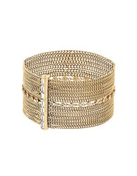 Michael Kors Cubic Zirconia And Crystal Cuff Bracelet Gold